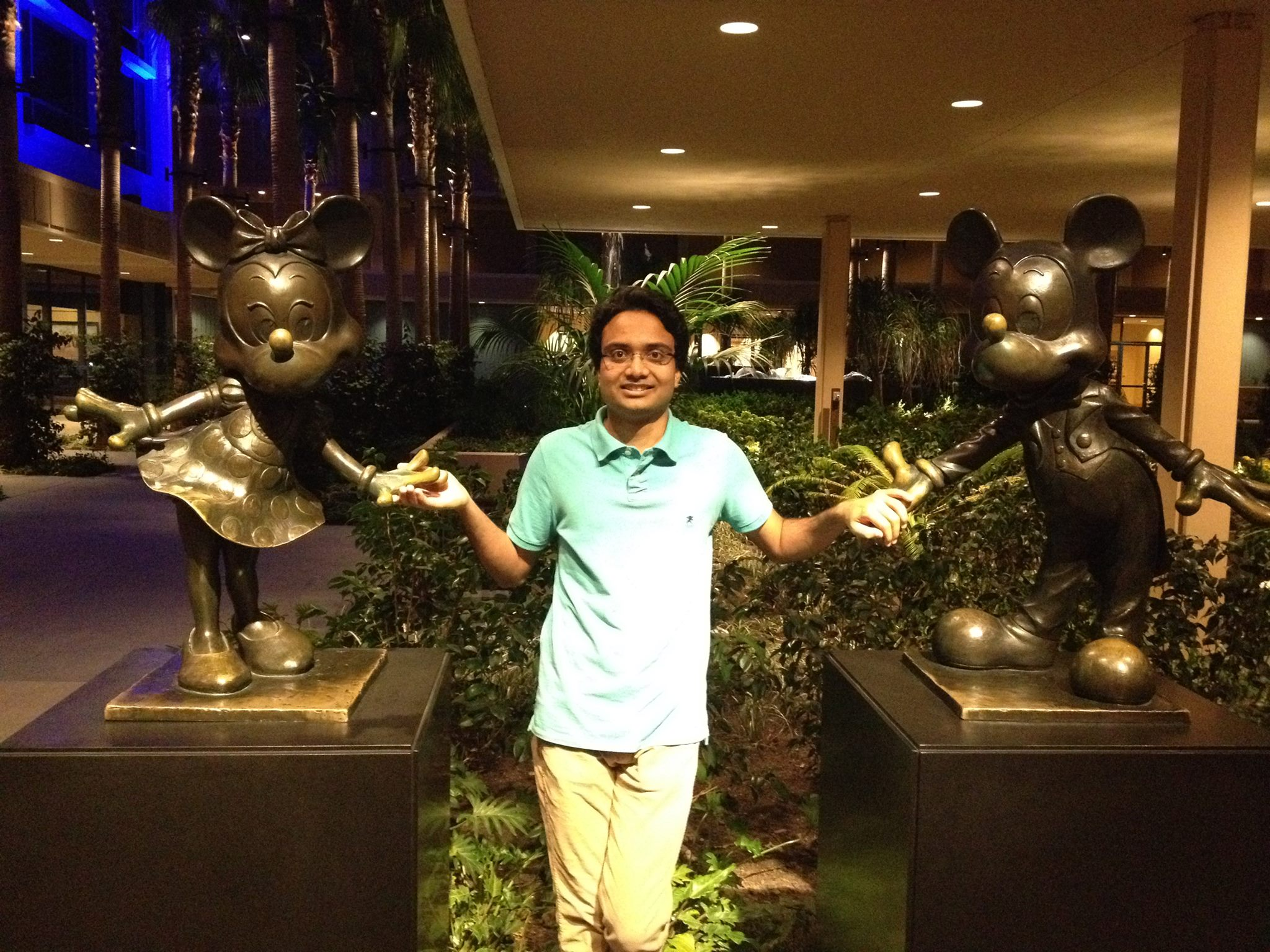 Anmol with Mickey and Mini