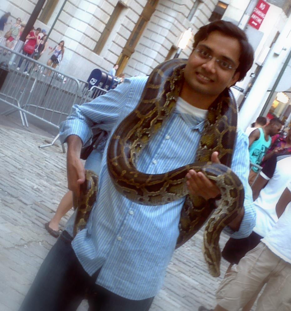 Anmol with Python in NYC